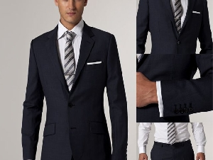 Black Solid Suit